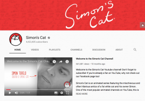 Simon's Cat Youtube Page